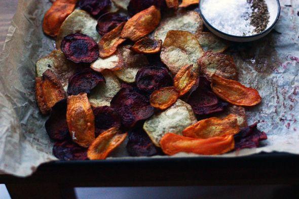 BAYADERKA : Domowe chipsy z marchewki, buraczkow i ziemniakow