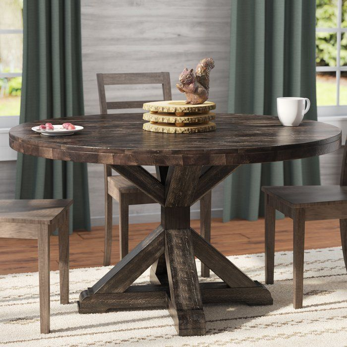 Colborne Solid Wood Dining Table Circle Dining Table Round
