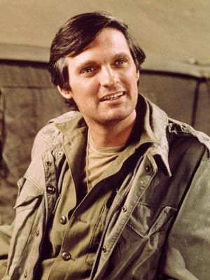 M.A.S.H. Alan Alda as Hawkeye Pierce.