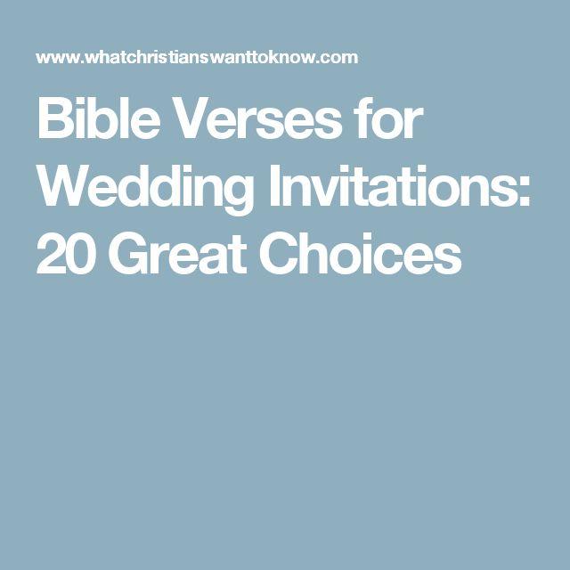 Best Bible Verse For Wedding Invitation: Best 25+ Bible Verses For Weddings Ideas On Pinterest