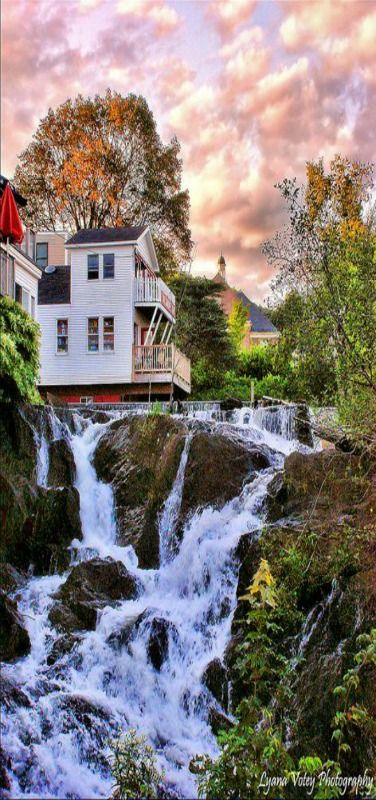 Camden Falls, Maine, USA by LVotey