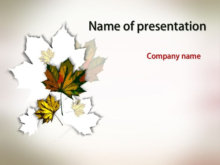 78 best powerpoint templates images on pinterest power point autumn leaves powerpoint template background for presentation free toneelgroepblik Images