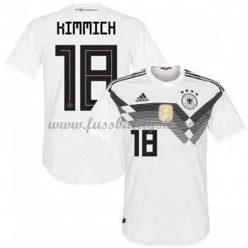 Fussball Trikots Deutschland WM 2018 Joshua Kimmich 18 Heimtrikot Kurzarm