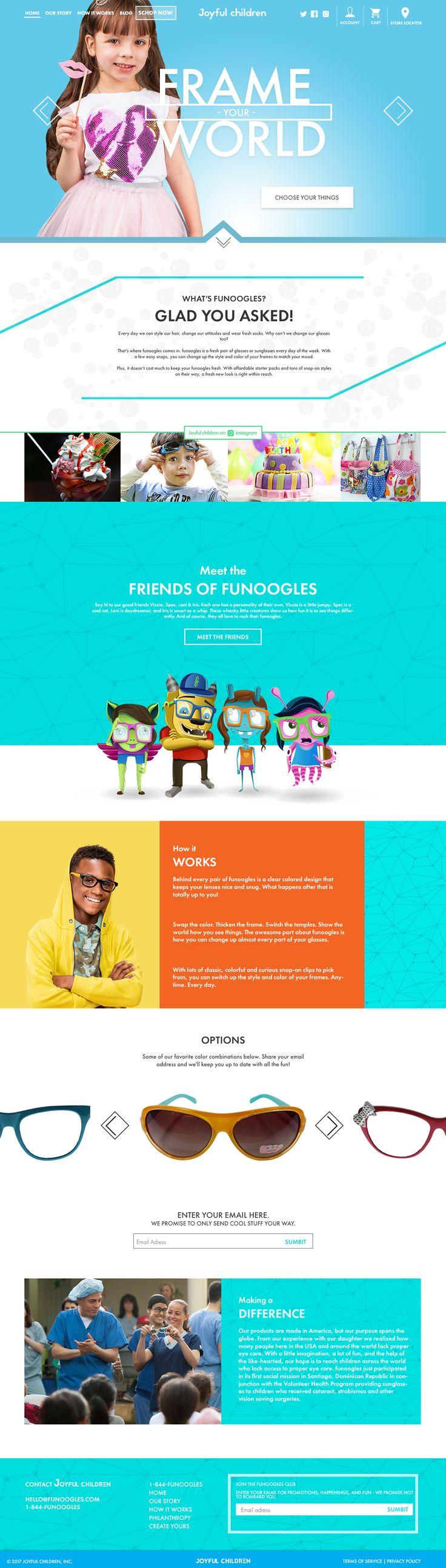 Дизайн страницы сайта по продаже детских товаров