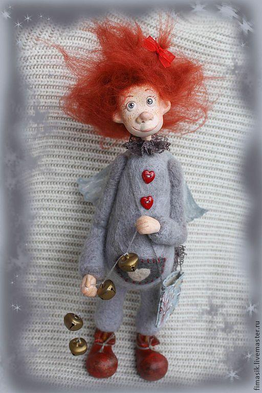 Купить Чечуля - рыжая девочка, Рыжая, оранжевое настроение, теплый подарок, подарок на любой случай