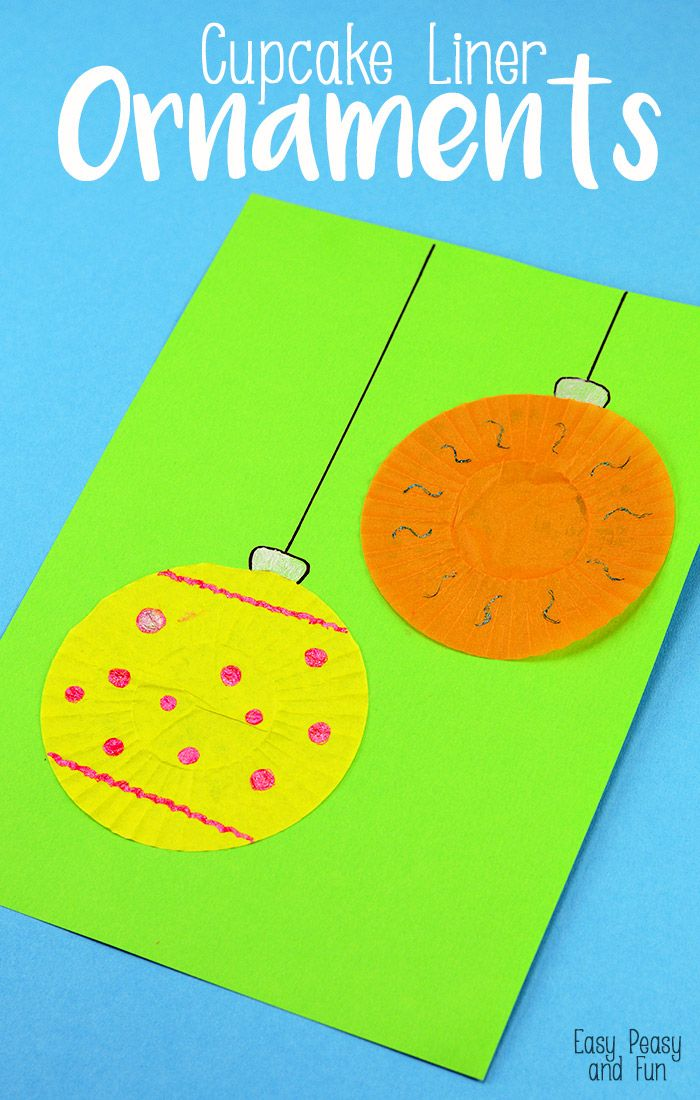 Christmas Cupcake Liner Craft Ornament - Easy Peasy and Fun