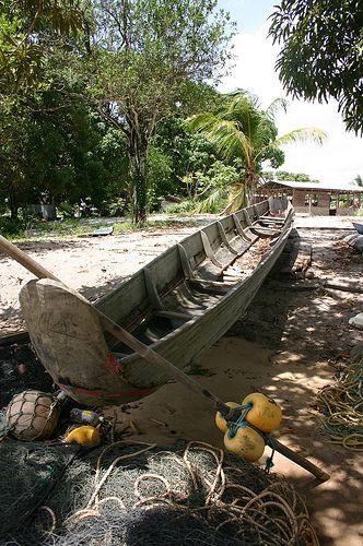 Handmade canoe, Surinam