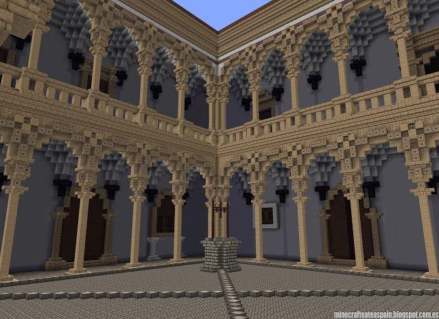 ¡MINECRAFTEATE!: Réplica Minecraft del Castillo de La Calahorra, Granada, España.