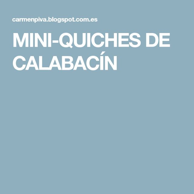 MINI-QUICHES DE CALABACÍN