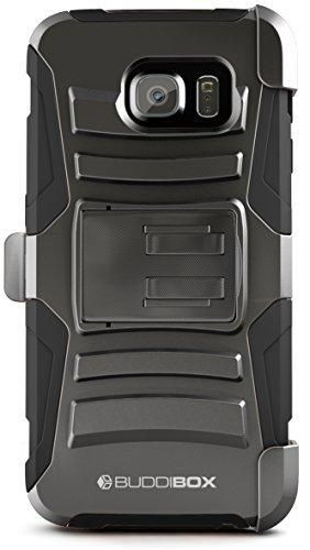 BUDDIBOX Galaxy S6 Case [HSeries] Heavy Duty Swivel Belt Clip Holster with Kickstand Maximal Protection Case for Samsung Galaxy S6 (Black)