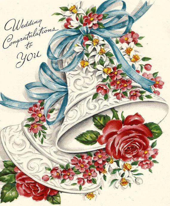 Винтажные открытки свадьба, мужа днем