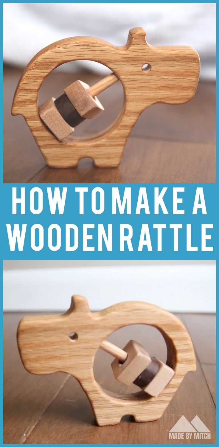 how to make a wooden baby rattle | woodworking projects for