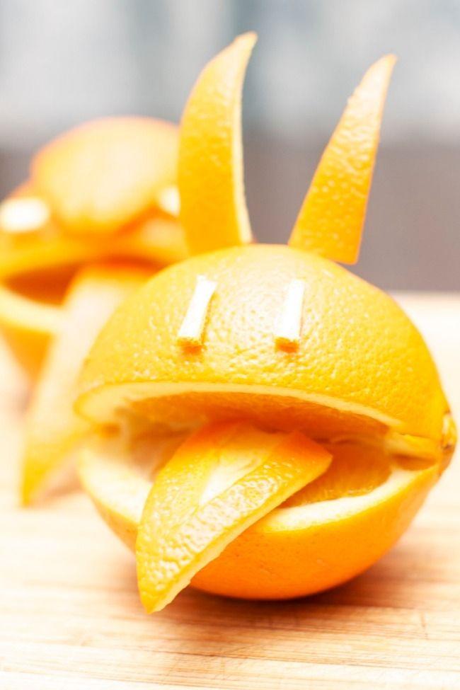 Healthy Kid's Party Food: Monster Oranges - Spaceships and Laser Beams