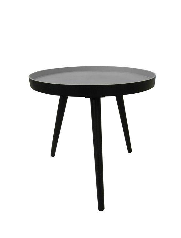 Runder Beistelltisch In Schwarz Mit Drei Leicht Ausgestellten Beinen Jetzt Entdecken Bei Car Moebel De Beistelltisch Schwarz Beistelltisch Tisch