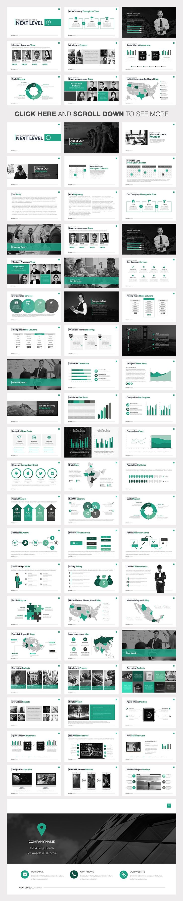 Next Level Powerpoint Template by Slidedizer on @creativemarket