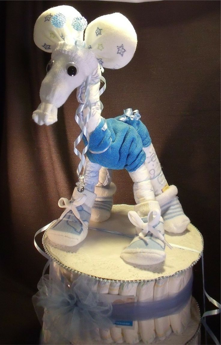 Boy Diaper Cake Decorations : baby boy giraffe diaper cakes Blue GIRAFFE Baby Shower ...