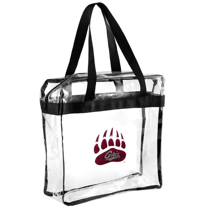 Montana Grizzlies Clear Basic Messenger Tote Bag