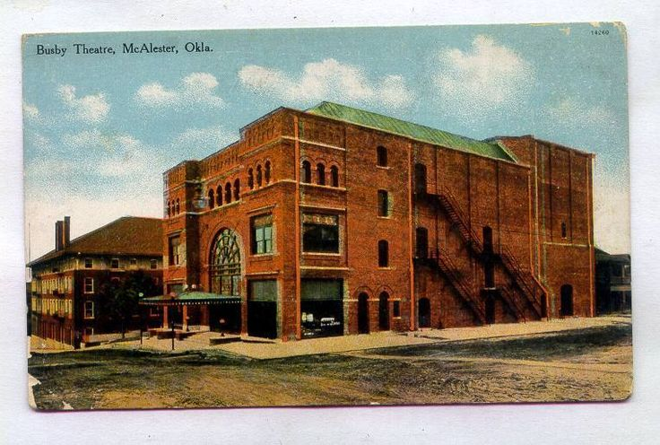 Busby Theatre McAlester OKLAHOMA *EARLY S S Kresge Published*