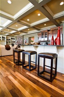 I like the hardwood floors with multi colors and wide wood panels, perhaps even a bit wider than those pictured.  I also prefer coloring that is a lighter vs. darker.