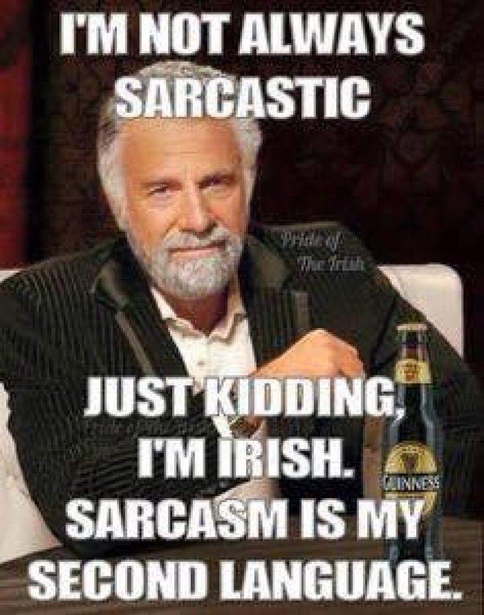 Sarcasm is the middle name