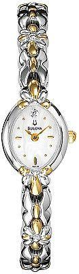 Bulova Women's Diamond Two Tone MOP Watch 98P38