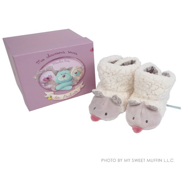 Moulin Roty Les Pachats Furry Mouse Booties