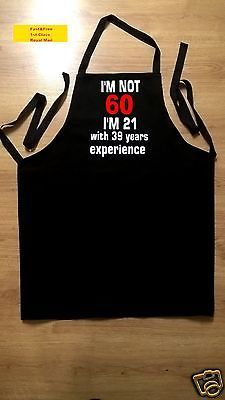 60 th #birthday #apron ideal high #quality garment ,  View more on the LINK: http://www.zeppy.io/product/gb/2/131734605224/