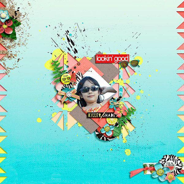 template : girl friday by jimbo jambo designs  kit : looking fresh by jenn barrette