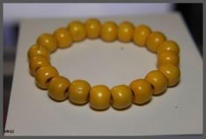 Round Yellow Bead Bracelet