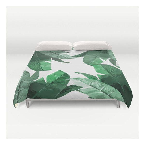 Tropical Palm Print Duvet Cover ($129) ❤ liked on Polyvore featuring home, bed & bath, bedding, duvet covers, cream duvet, king size bedding, lightweight duvet insert, queen bedding and tropical bedding
