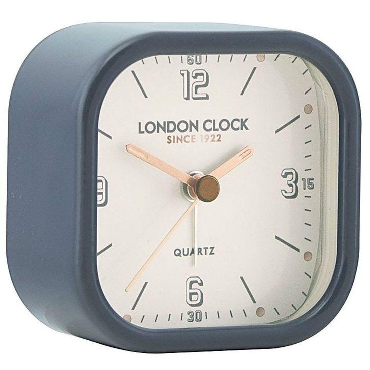 London Clock Company Flare Alarm Clock Black 7cm Angle 34403