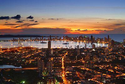 Hermosa vista de Cartgaeba de Indias, Colombia.