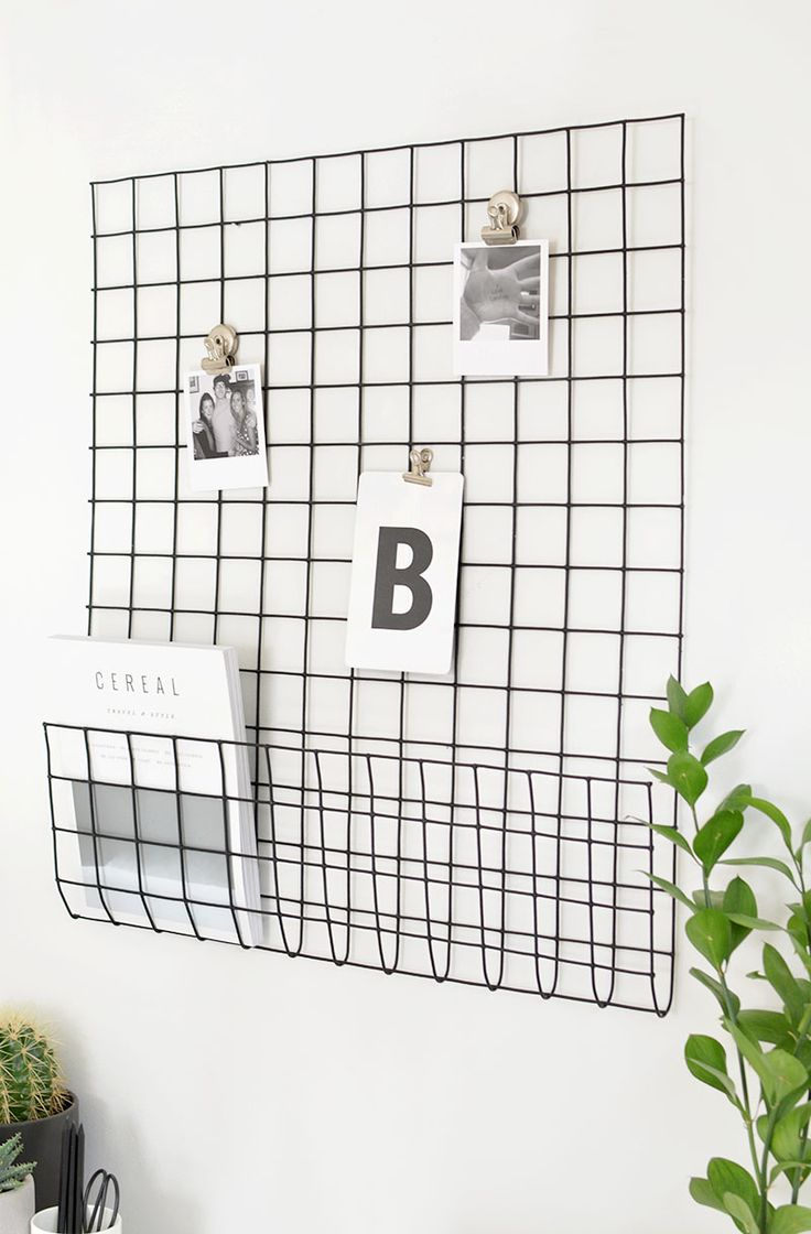 DIY | memo storage grid