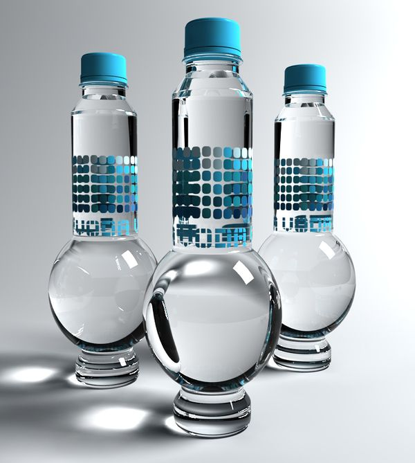 Voda (Water) - Package And Brand Identity by Irena Ilic, via Behance     Strange yet interesting shape with a cool blue colour scheme.