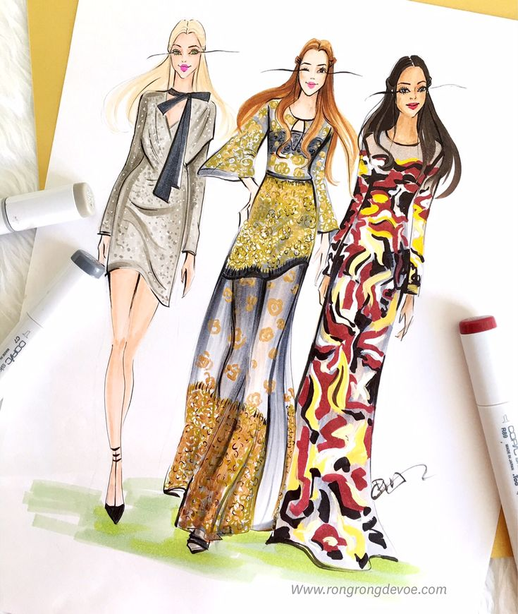 Rongrong DeVoe is a professional fashion illustrator based in Houston, TX, US. Her fashion illustrations have been featured on Vogue, InStyle and Buzz Feed. Her clients include Teen Vogue, Neiman Marcus, Armani, Saks Fifth etc. She is available for various kinds of fashion, editorial and commercial illustrations as well as live sketching at fashion parties/events.