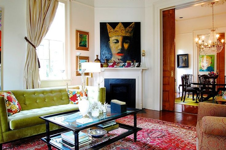 Colorful and whimsical living in New Orleans Home by Marie Palumbo