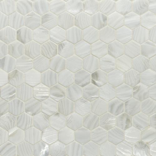 Artistic Tile Rivershell Hexagon Mosaic