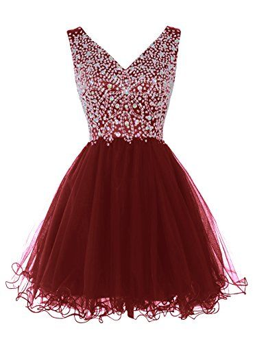 Tideclothes Women's Short V-neck Homecoming Dress Party Dress with Beads Burgundy16 Tideclothes http://www.amazon.com/dp/B014PL6YMM/ref=cm_sw_r_pi_dp_Rc47vb0C994VF