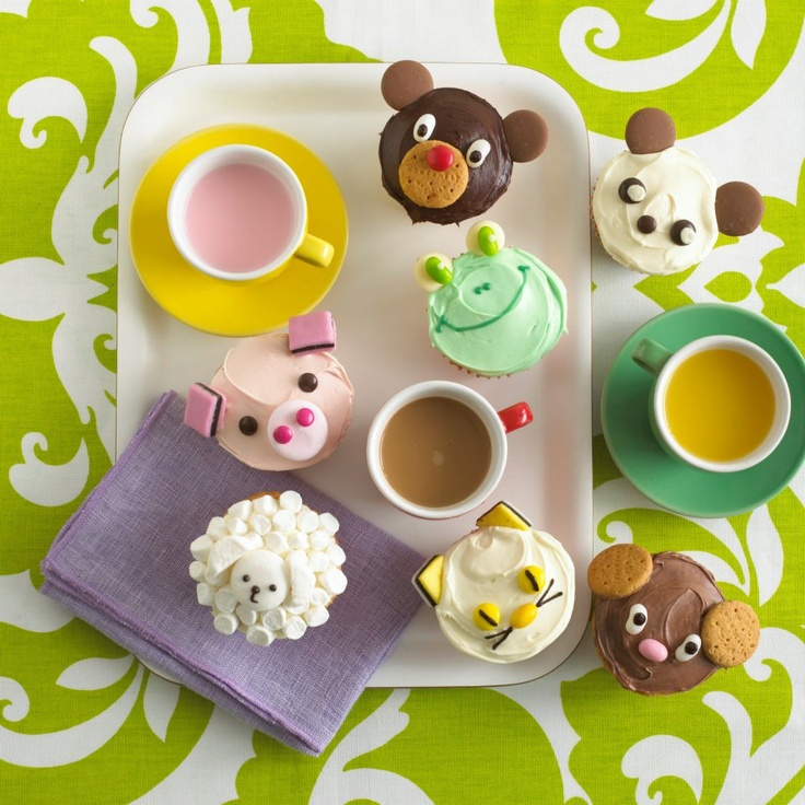 Animal Cupcakes by Annabel Karmel. Recipe available on Annabel's App - The Essential Guide to Feeding Your Baby & Toddler
