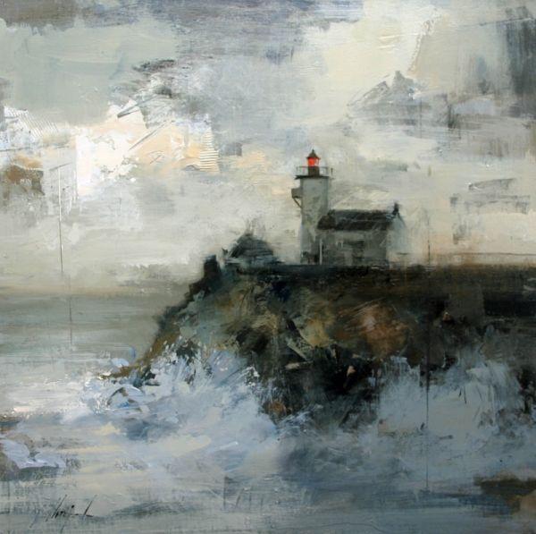 Faro II - Óleo sobre lienzo (54 x 54 cm.) Ricardo Urrejola