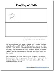 Flag of Chile - Chile resources/lessons for Thinking Day