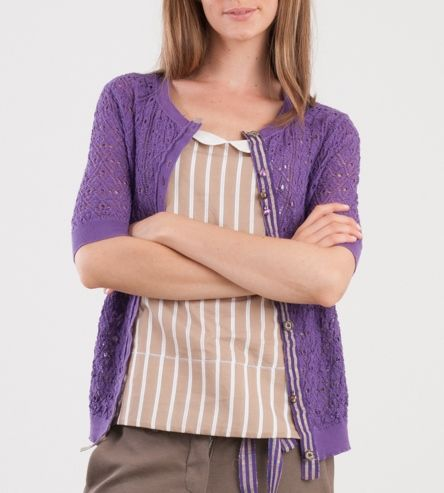 Momoé Violet Cardigan Summer 2014 ... a touch of colour