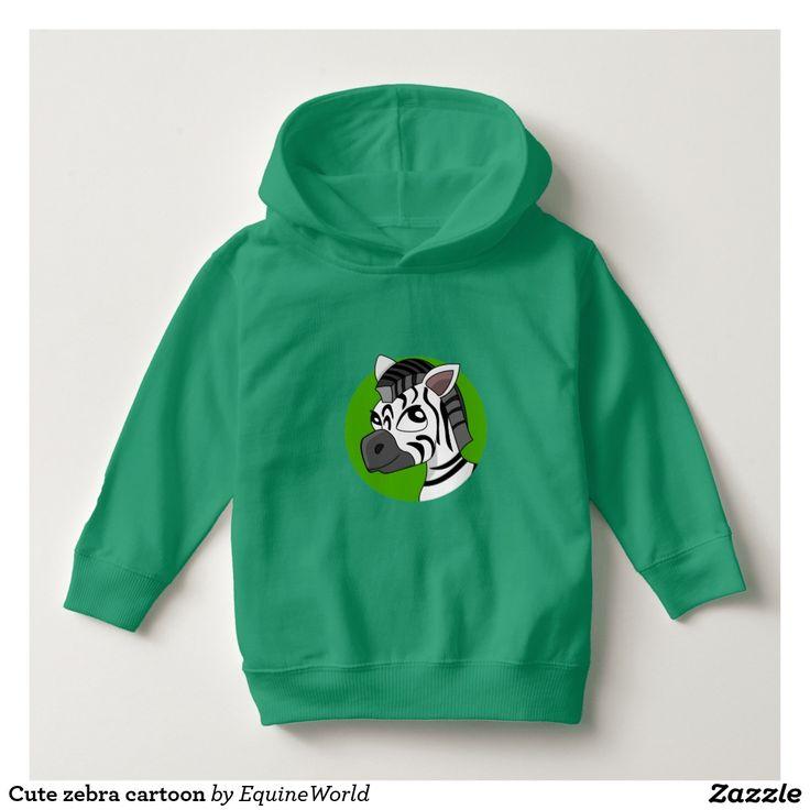Cute zebra cartoon toddler hoodie
