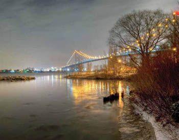 2014 Ontario Scenic Personalized Wall Calendar - November 2014 - Ambassador Bridge, Windsor