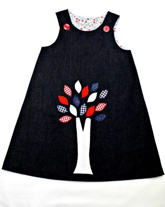 Red , Blue & White Desire Tree Pinafore Dress     Order in more fabrics here - http://www.facebook.com/media/set/?set=a.423115456319.212425.325318651319=3