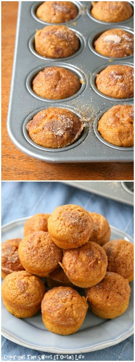 {Dairy Free} Cinnamon and Sugar Pumpkin Muffins aka THE BEST pumpkin muffins.  Seriously amazing - no one can tell there is whole wheat and coconut oil!
