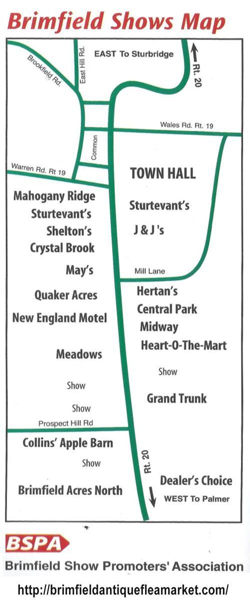 2015 Brimfield Show Map 2015