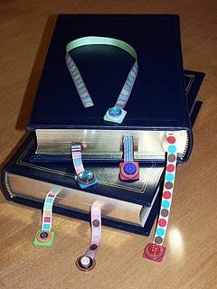 Separadores con cintas y botones