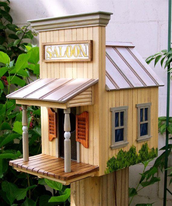 The Saloon Birdhouse by BirdhomesandGardens on Etsy, $195.00