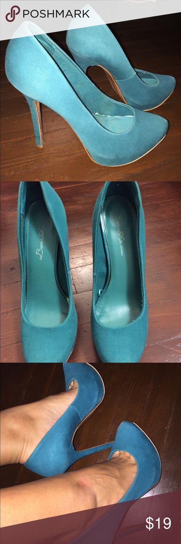 Bershka teal high heel shoes Bershka teal high heel shoes size EU 39, US 9 Bershka Shoes Heels